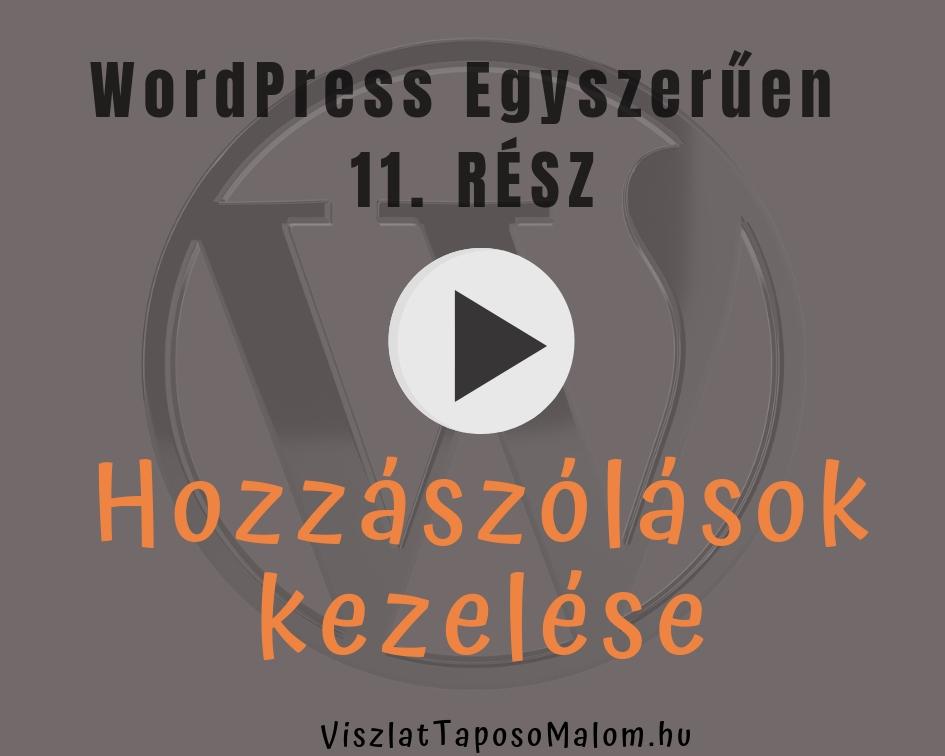 WordPress videó - kommentek kezelése