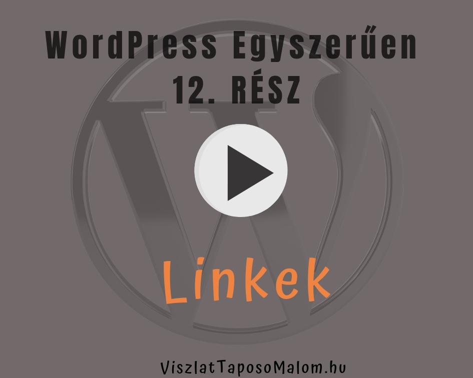 Wordpress weboldal létrehozása - linkek