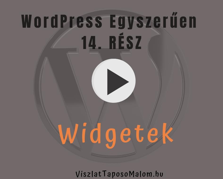 Wordpress weboldal létrehozása - widgetek
