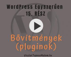 Wordpress weboldal készítés tréning - bővítmények