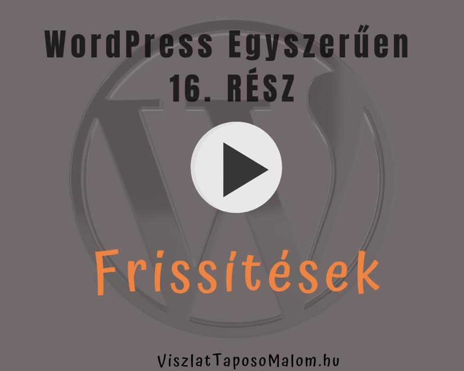 Wordpress frissítése