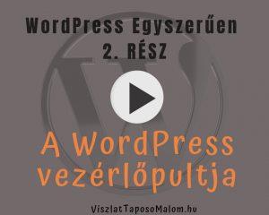 WordPress weboldal készítés vezérlőpult