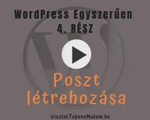 Wordpress weboldal készítés Bejegyzés létrehozása