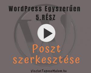 WordPress weboldal létrehozása  bejegyzés szerkesztése