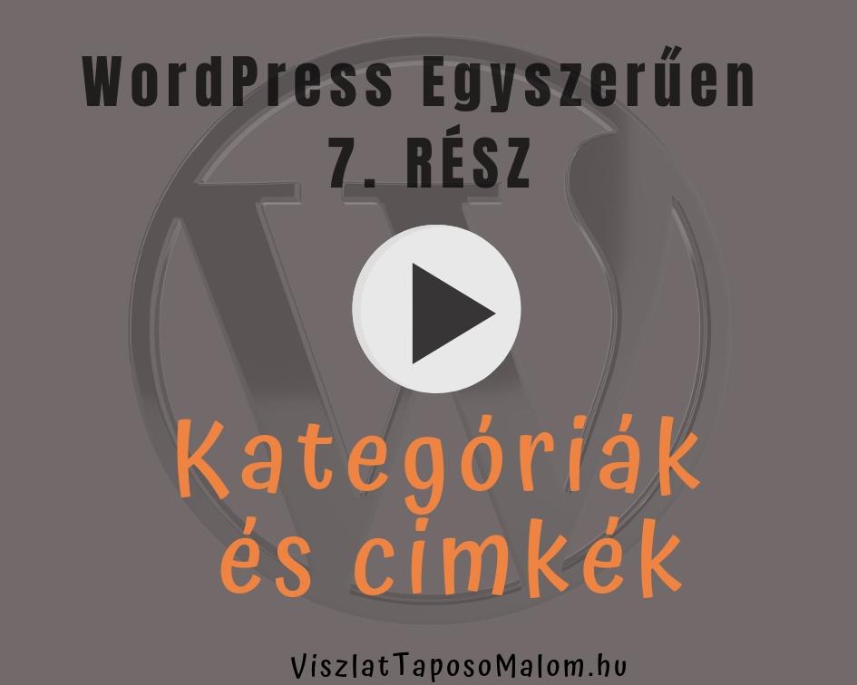 Wordpress weboldal - kategóriák