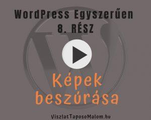 Wordpress weboldal létrehozása - képek beszúrása