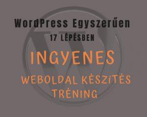 Wordpress weboldal létrehozása ingyenes tréning