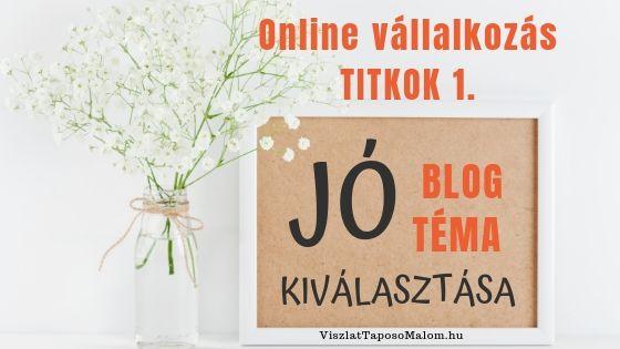blog téma választás