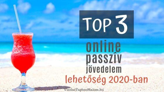 online passzív jövedelemforrások