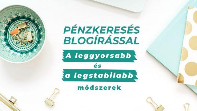 pénzkeresés blogolással