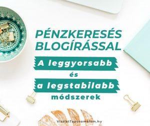 blogírás pénzkeresés