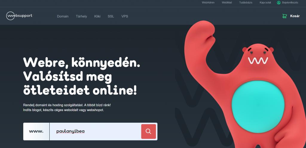 WordPress Blog létrehozása